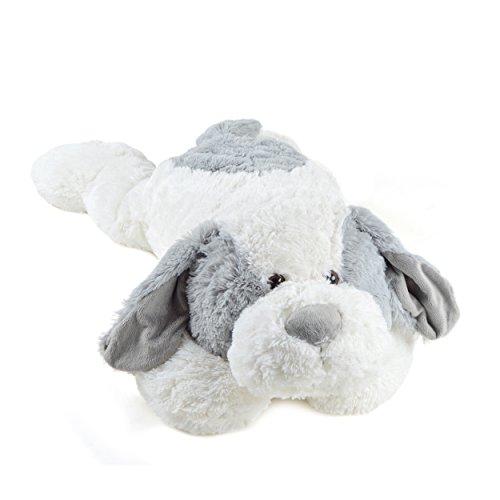 Pink Papaya Riesen Kuschel-Hund Lou, 100cm XXL Plüsch-Hund in weiß/grau, Stoff-Hund, Teddybär zum Liebhaben Toys