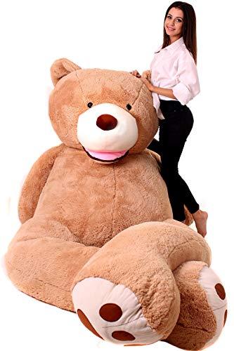 MAKOSAS Riesen Teddybären - Teddybär Groß - Kuscheltier großer Teddy Bär 340 cm - Kuscheltier Für Babys - Geschenk Freundin, Geschenkideen Zum Geburtstag, Kinder, Geschenke Zum Jahrestag, Braun