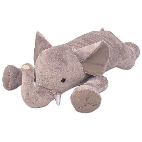 vidaXL Kuscheltier Elefant XXL 95 cm Plüschtier Stofftier Plüsch Spielzeug