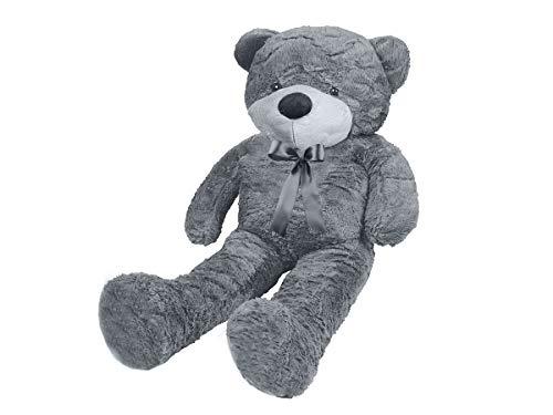 MALATEC Riesen Teddybär XXL100-190cm samtig weiches Kuscheltier Plüschbär Plüschtier Grau 9281, Größe:190 cm