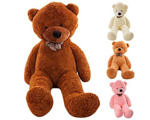 MyTeddyWorld Riesen Teddy Bär Dunkelbraun XL-XXXL Teddybär 140-200 cm samtig weich Plüsch Kuscheltier Plüschbär Farbwahl