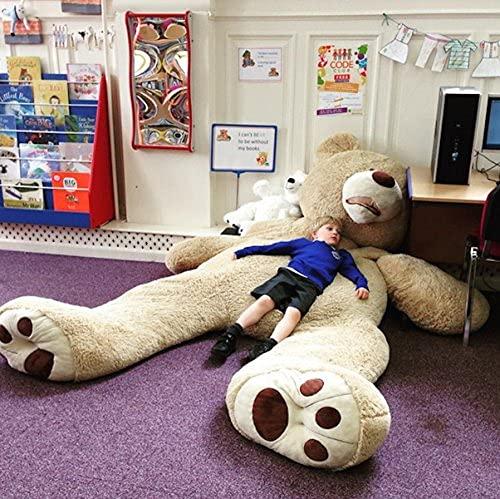 Bananair Riesen Teddybär (130cm to 340cm) XXL Großer Riesiger Teddy Bear Stofftier Perfekt für Geburtstag, Geschenk, Weihnachten, Spielzeug Plüschtiere (340 Zentimeter)