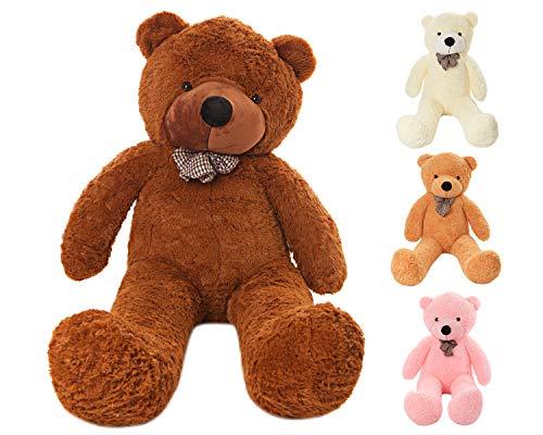 MyTeddyWorld Großer Teddybär 140-200 cm - Dunkelbraun 140 cm Kuschelig Stofftier Riesen Plüschbär - Weiches Spielzeug Geschenk für Kinder - Perfekt für Geburtstag Hochzeit Valentinstag Weihnachten