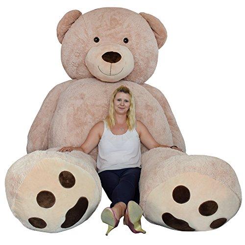 TE-Trend XXL Giant Teddy Riesen Teddy Teddybären Traum 320cm Plüsch Bär Kuscheltier Deko Plüschtier Braun